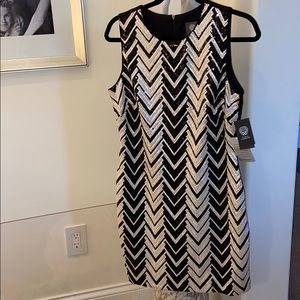 Vince Camino sequined black and white dress